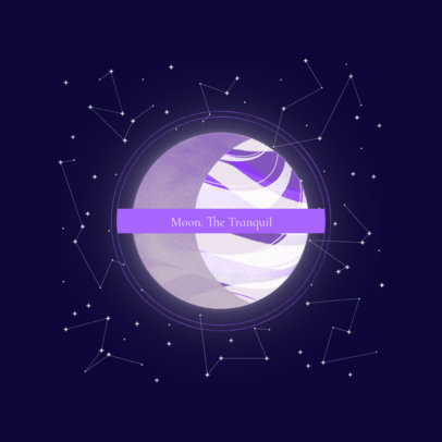 Logo Maker Featuring an Abstract Moon Graphic 3574c