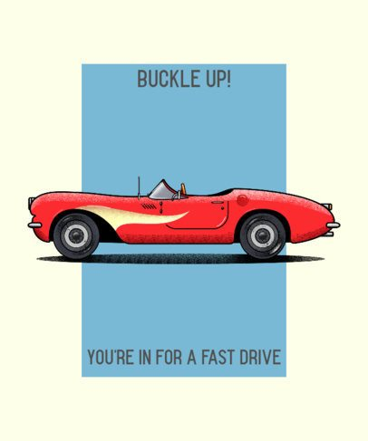 T-Shirt Design Makers with illustrations of Classic Cars 2847