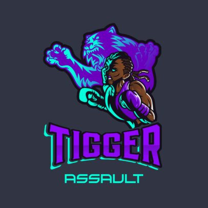 Gaming Logo Maker Featuring a Tiger-Spirited Boxer 3586h