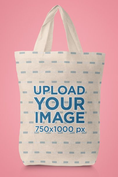 Mockup of a Tote Bag Featuring a Plain Customizable Background 41548-r-el2