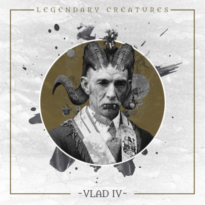 Dark Album Cover Design Maker with a Horror Vibe 2606