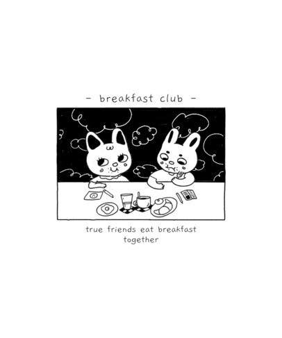 T-Shirt Design Maker with Cute Animals Eating Breakfast 2600
