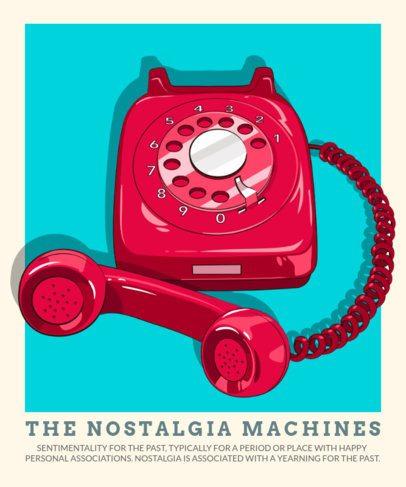 Nostalgic T-Shirt Design Maker Featuring Retro Gadgets Illustrations 2798