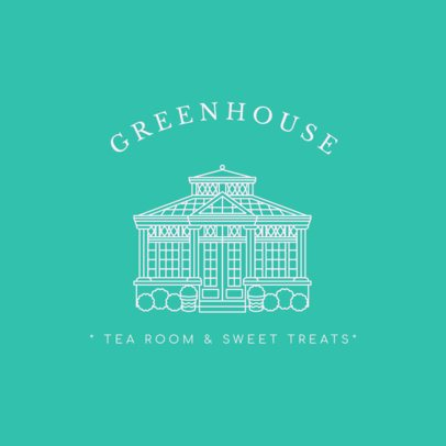 Logo Creator Featuring a Greenhouse Graphic for a Tea Room 3605e