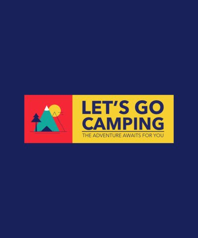 Quote T-Shirt Design Template for Camping Enthusiasts 2612-el1