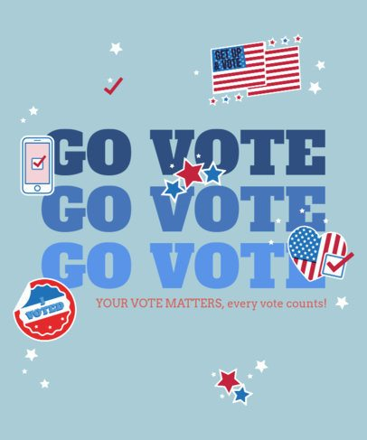 T-Shirt Design Maker Featuring a Bold Go and Vote Text 2873d