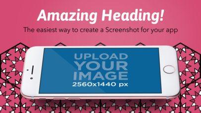 Appstore Screenshot Maker of a Rose Gold iPhone 7 Floating in Landscape Position a14107