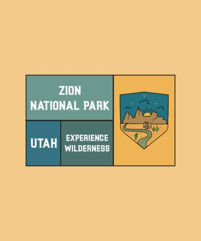 T-Shirt Design Maker for Enthusiasts of National Parks 2616c-el1