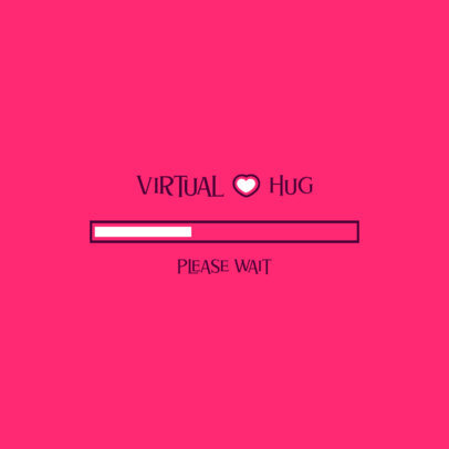Logo Template Featuring a Virtual Hug Loading Bar 3615d