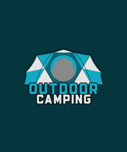 T-Shirt Design Maker Featuring a Camping Tent Graphic 2723a-el1