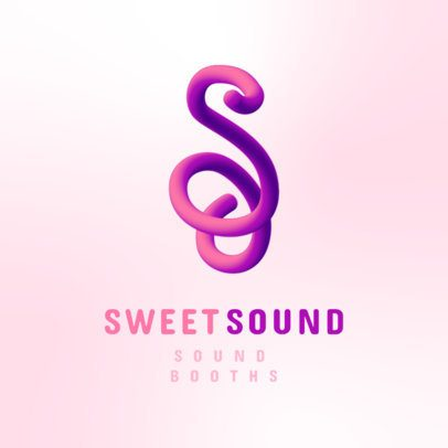 Logo Creator for a Sound System Featuring a Tridimensional Monogram 3613k