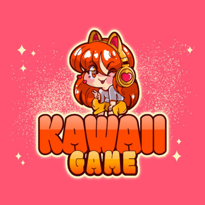 Logo Creator Featuring a Kawaii-Style Girl Character 3626j