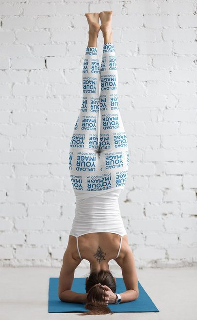 Back-View Leggings Mockup of a Woman Doing a Headstand 37772-r-el2