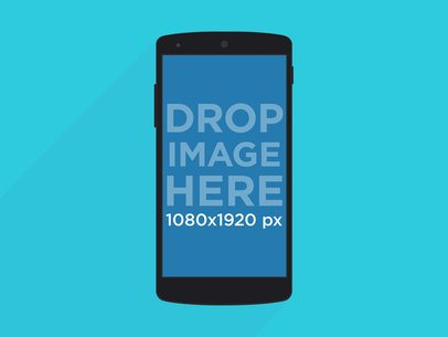 Black Portrait Nexus 5 Flat Mockup