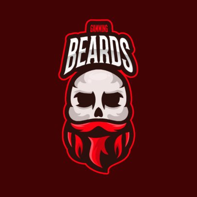 Gaming Logo Maker with a Bearded Skull Graphic 2798e-el1
