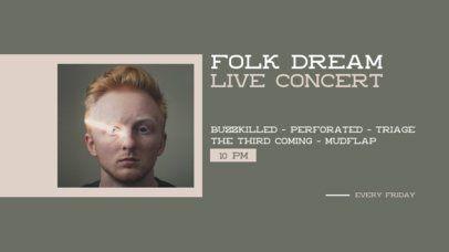 Twitch Banner Design Maker for an Online Folk Concert 2740d-el1