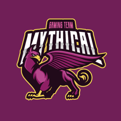 Gaming Team Logo Maker Featuring a Mythical Griffin 2786h-el1