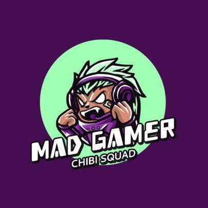 Chibi Logo Maker Featuring a Mad Gamer 2810c-el1