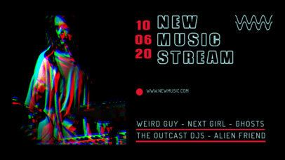 Twitch Banner Creator for a New Music Release Stream Party 2734a-el1