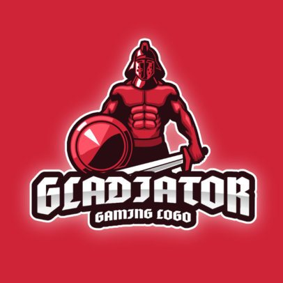 Logo Maker for a Gaming Squad Featuring a Gladiator with a Sword 2276e-el1