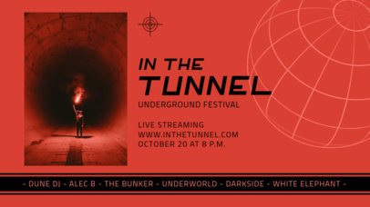 Twitch Banner Template for an Underground Festival 2744a-el1
