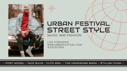 Twitch Banner Creator for an Urban Music and Fashion Festival 2744b-el1