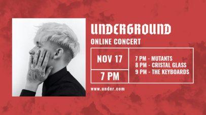 Twitch Banner Design Maker for an Underground Music Online Concert 2748d-el1