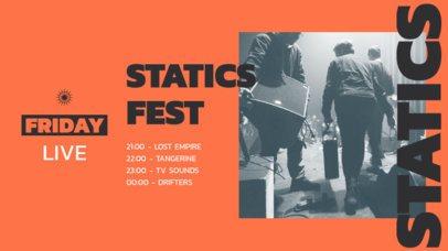 Cool Twitch Banner Design Maker for a Music Fest Lineup 2752c-el1