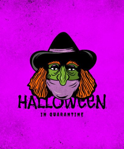 T-Shirt Design Creator with a Halloween Witch Graphic 2899e