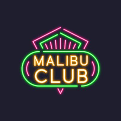 Nightclub Logo Creator with a Neon Sign Style 3633f