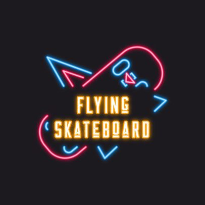 Neon Logo Generator Featuring a Skateboard Graphic 3633m