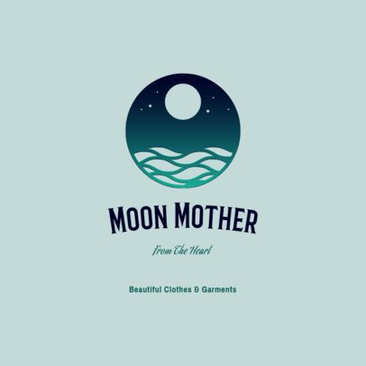 Sustainable Clothing Brand Logo Maker Featuring a Moon Graphic 3630a