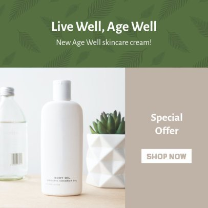 Ad Banner Creator for a Beauty Cream MLM Sale 2904b