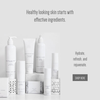 Ad Banner Design Template for Skin Care Products Business Opportunities 2904l