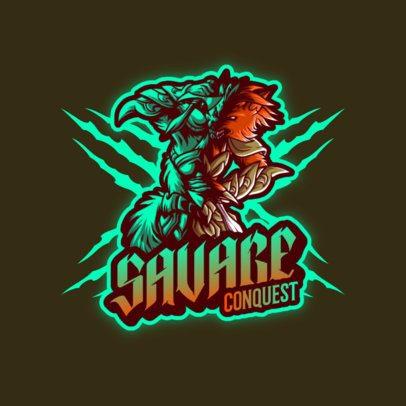 Online Logo Maker Featuring a Savage Warrior Wolf 3636f