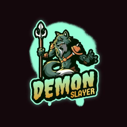 Logo Template for a Gamer Featuring a Warrior Werewolf 3639h