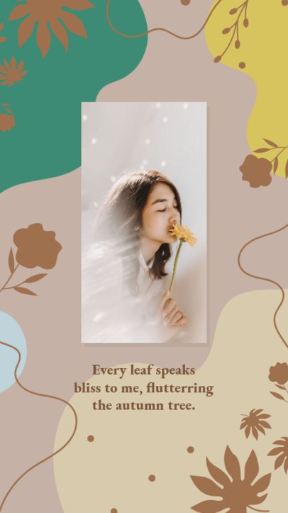 Fall-Themed Instagram Story Creator with an Elegant Layout for a Quote 2944g