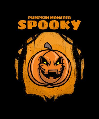 Spooky T-Shirt Design Maker Featuring Illustrated Halloween Characters 2858-el1