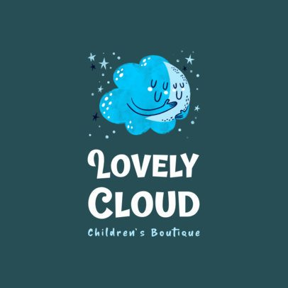 Kids' Apparel Brand Logo Maker with a Lovely Cloud Graphic 3660c