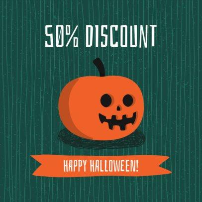 Instagram Post Template with a Halloween Discount 2888c-el1