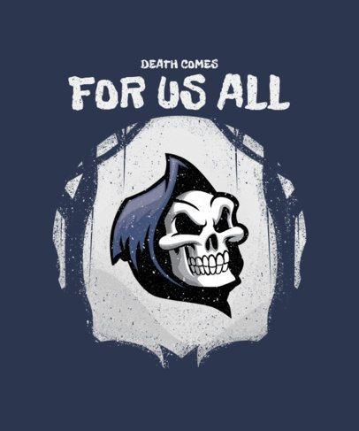 Halloween T-Shirt Design Template a Reaper Head Graphic 2858a-el1