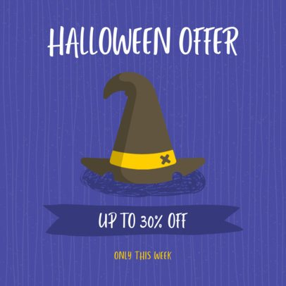 Halloween-Themed Instagram Post Maker for a Halloween Offer 2888b-el1