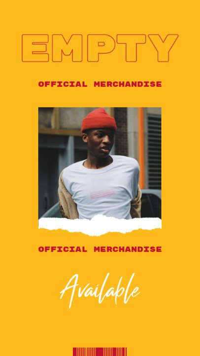 Instagram Story Maker for an Official Indie Artist's Merch Promo 2873a-el1