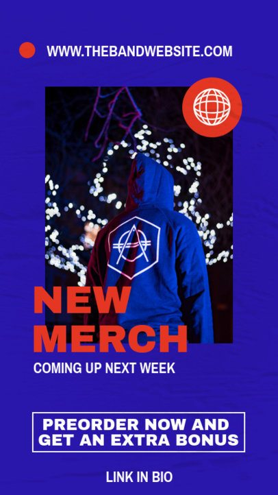 Instagram Story Maker for a Music Artist's New Merch Announcement 2876-el1