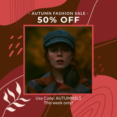 Instagram Post Creator Featuring a Fall Design for a Store's Promo 2947b
