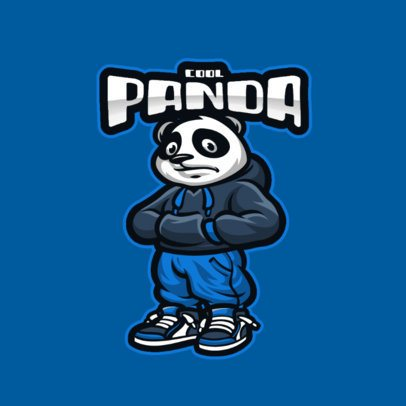 Gaming Logo Creator Featuring a Panda with a Street Style 2890d-el1