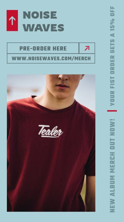Instagram Story Maker to Pre-Order a Rock Band's Official Merch 2879a-el1
