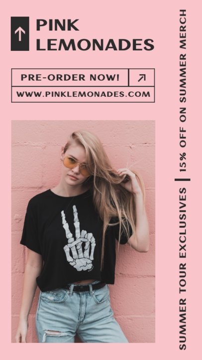 Instagram Story Design Template for a Female-Led Band Merchandise 2879b-el1