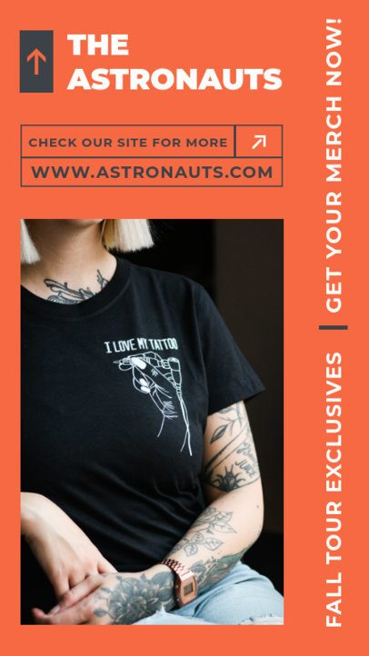 Instagram Story Template for a Promotion of an Indie Band Official Merchandise 2879c-el1