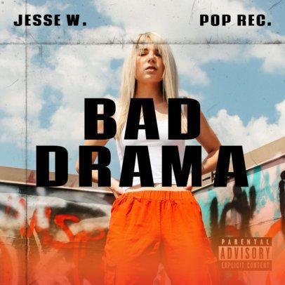 Album Cover Generator for a Pop Female Singer's Debut Album 2933c